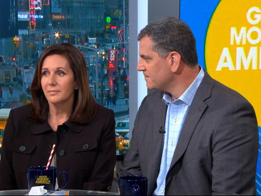 PHOTO: Marci Josephson and Seymour Josephson speak to Good Morning America, April 15, 2019.