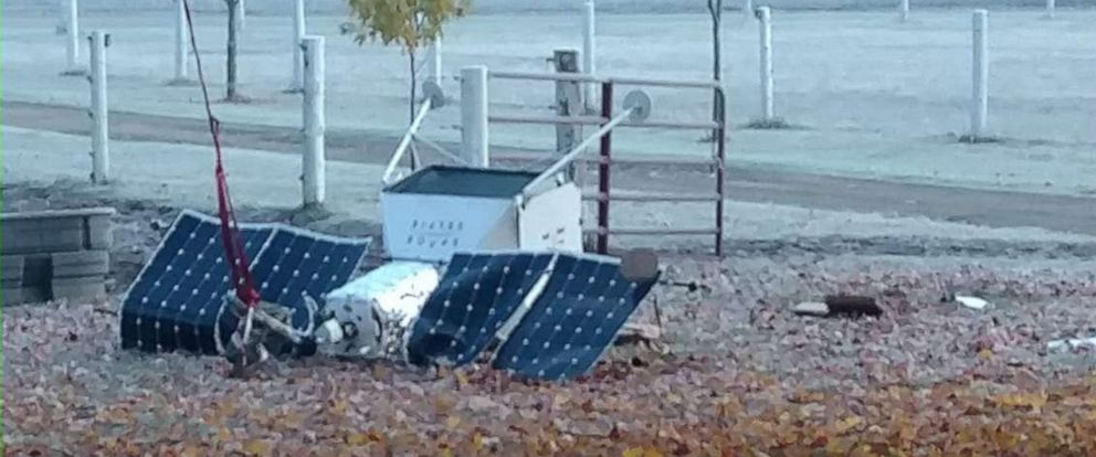 PHOTO: A pseudo Samsung space satellite fell from the sky and landed in Michigan, Oct. 26, 2019.