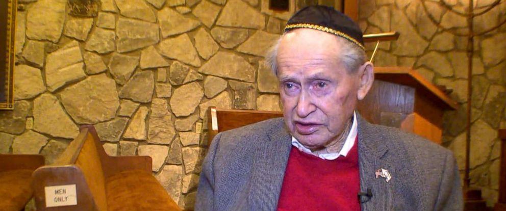 PHOTO: Samuel Heider, 93, was bar mitzvahed, March 24, 2018, at Beth Jacob Synagogue in Dayton, Ohio.