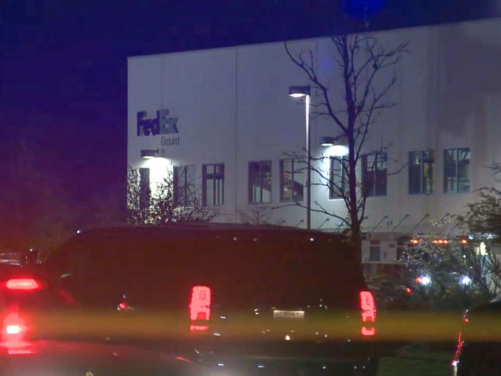 PHOTO: Emergency crews and FBI agents were at this FedEx distribution facility in Schertz, Texas, near San Antonio this morning, trying to determine if a device that exploded is connected to a string of bombings in Austin, March 20, 2018.