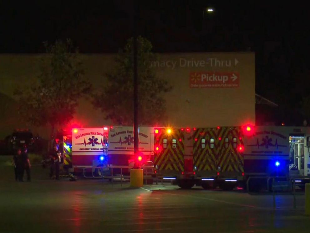 PHOTO: 8 people were found dead, 30 injured in semitrailer in a Walmart parking lot in San Antonio in apparent human-trafficking case.