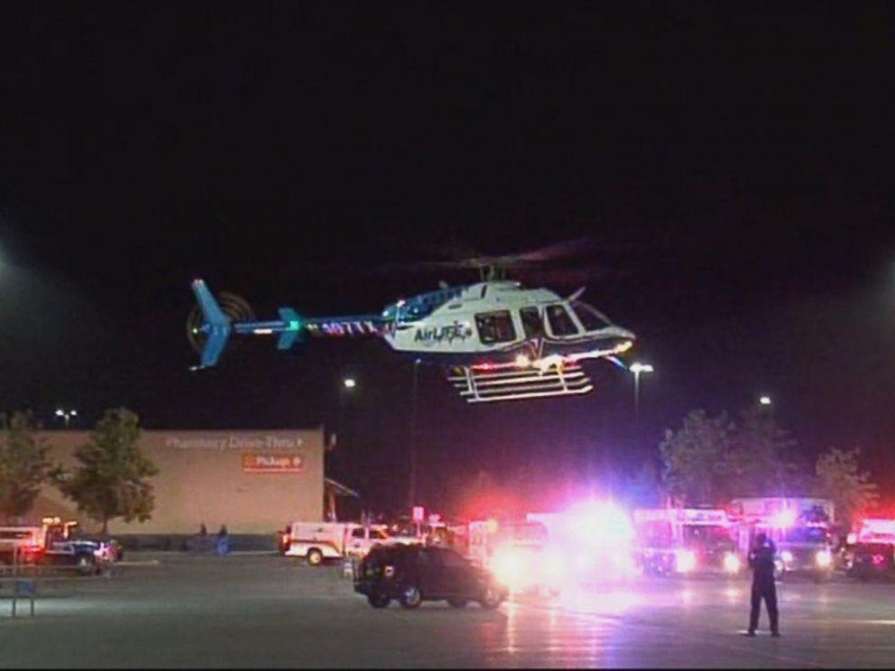 PHOTO: 8 people were found dead, 30 injured in semitrailer in a Walmart parking lot in San Antonio in apparent human-trafficking case.
