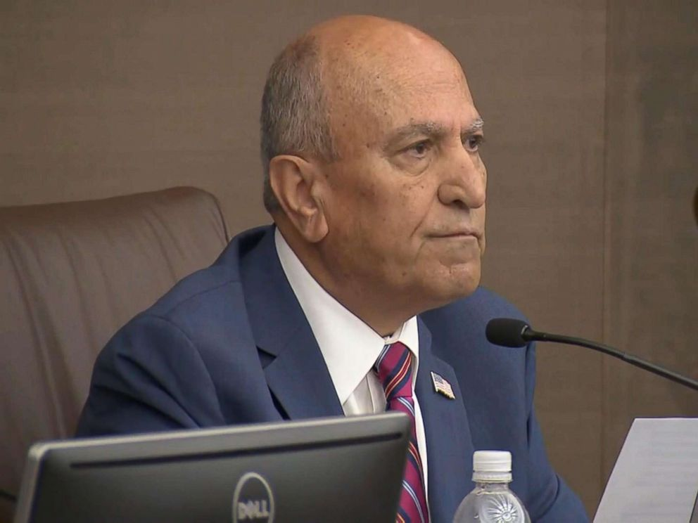 PHOTO: Escondido Mayor Sam Abed at the city council vote to support the federal lawsuit against Californias sanctuary laws, April 4, 2018.