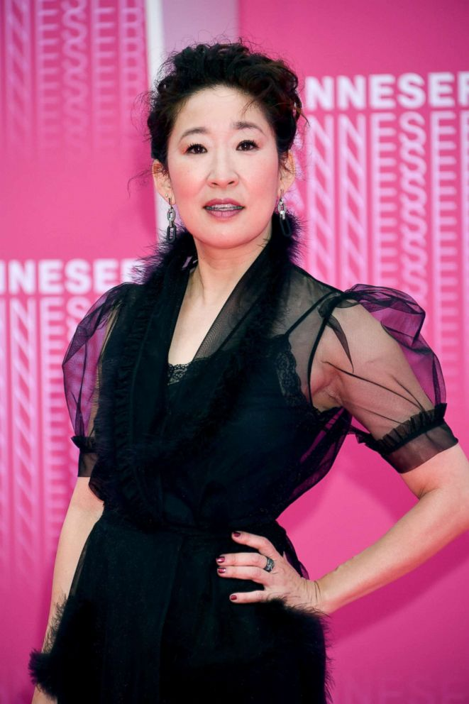 PHOTO: Sandra Oh attends Killing Eve and When Heroes Fly screening during the 1st Cannes International Series Festival at Palais des Festivals, April 8, 2018, in Cannes, France.