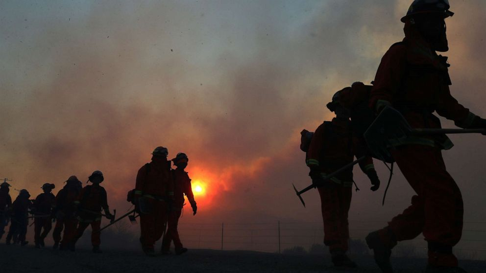 Critical fire danger continues in Southern California, Nor'easter to hit