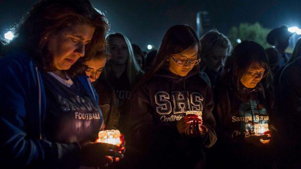 'Never could've imagined this hug would be my last': Vigil honors Santa Clarita shooting victims