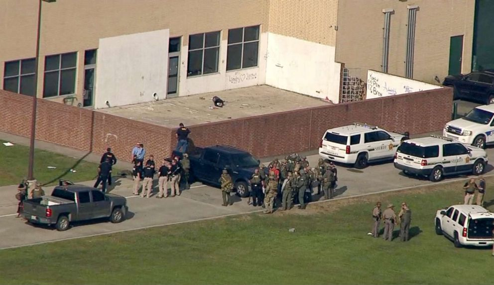 PHOTO: A shooting was reported at Santa Fe High School, May 18, 2018, in Santa Fe, Texas.