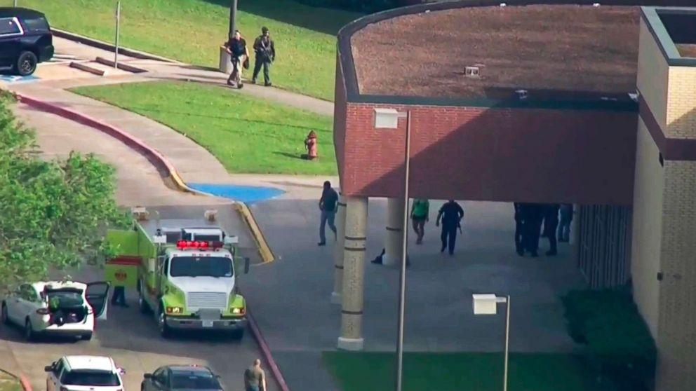 A shooting was reported at Santa Fe High School, May 18, 2018, in Santa Fe, Texas.