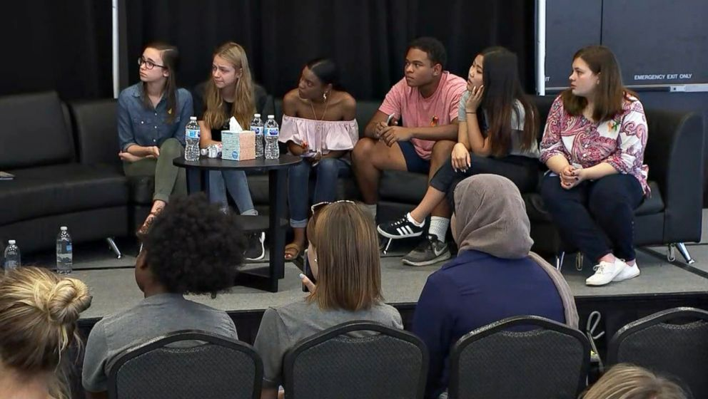 PHOTO: Santa Fe High School students spoke at a press conference alongside representatives for March for Our Lives Houston on Friday, May 25.