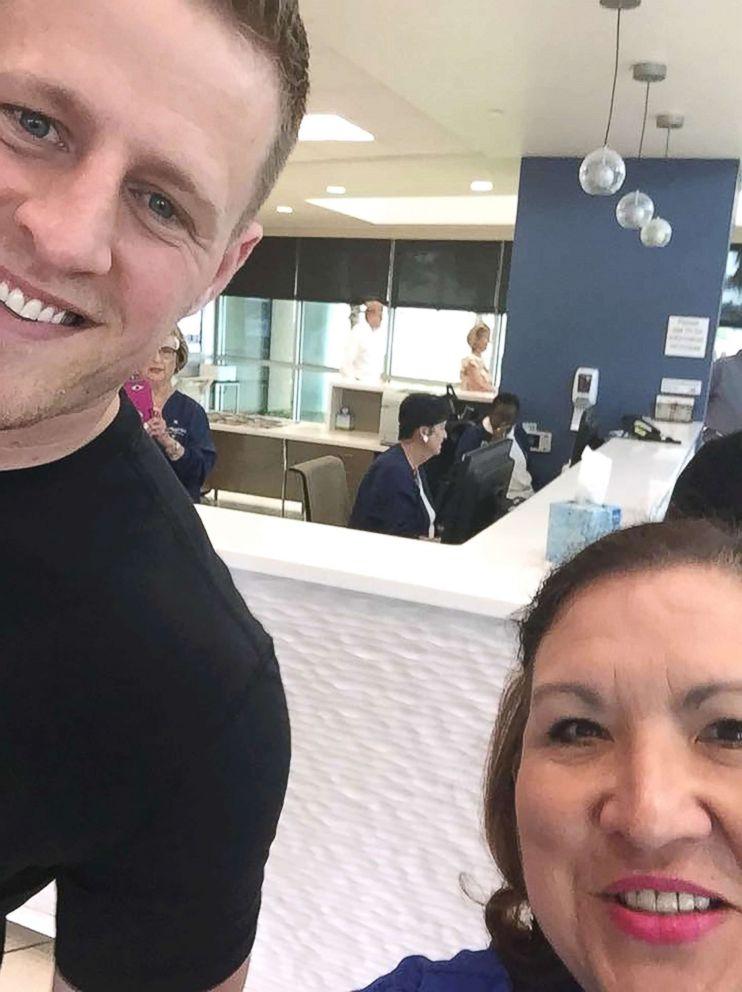 Houston Texans  star J.J. Watt visited with survivors of the Santa Fe High  School shooting a7f6c72d7