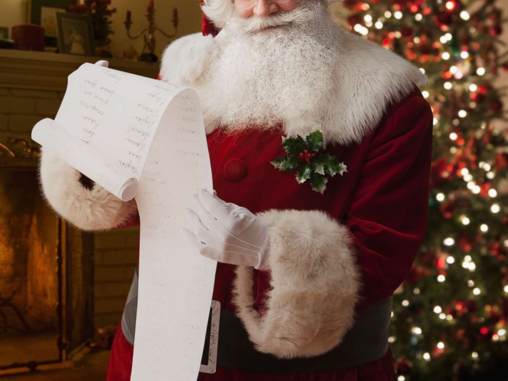PHOTO: A man dressed as Santa Claus is pictured in an undated stock photo.