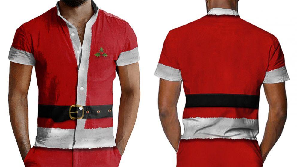 058154be7398 Santa Ugly Christmas Romper Back