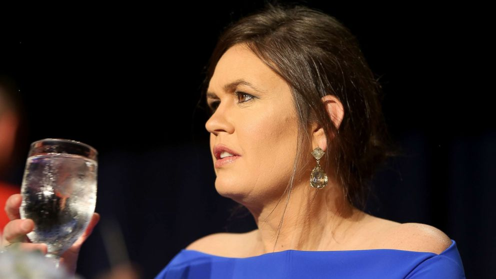Sarah Huckabee Sanders attends the 2018 White House Correspondents' Dinner at Washington Hilton, April 28, 2018, in Washington, DC.
