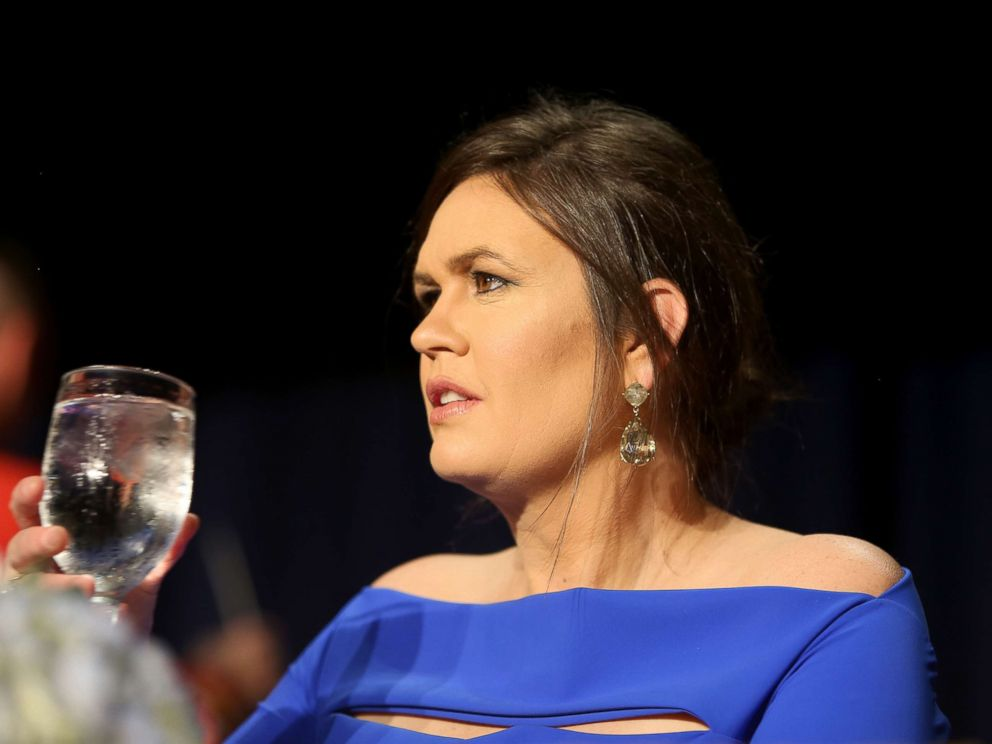 PHOTO: Sarah Huckabee Sanders attends the 2018 White House Correspondents Dinner at Washington Hilton, April 28, 2018, in Washington, DC.