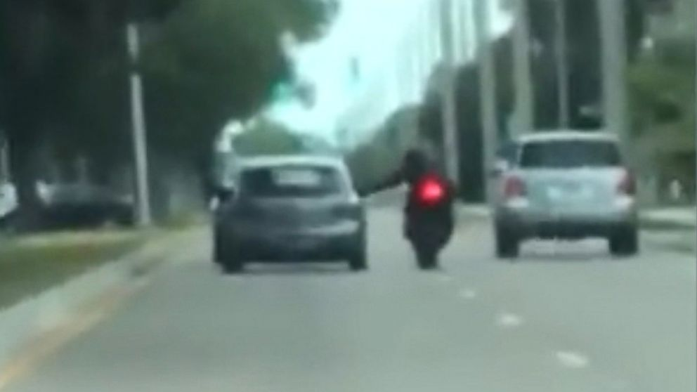 A Florida Man Was Knocked Off His Motorcycle By A Motorist