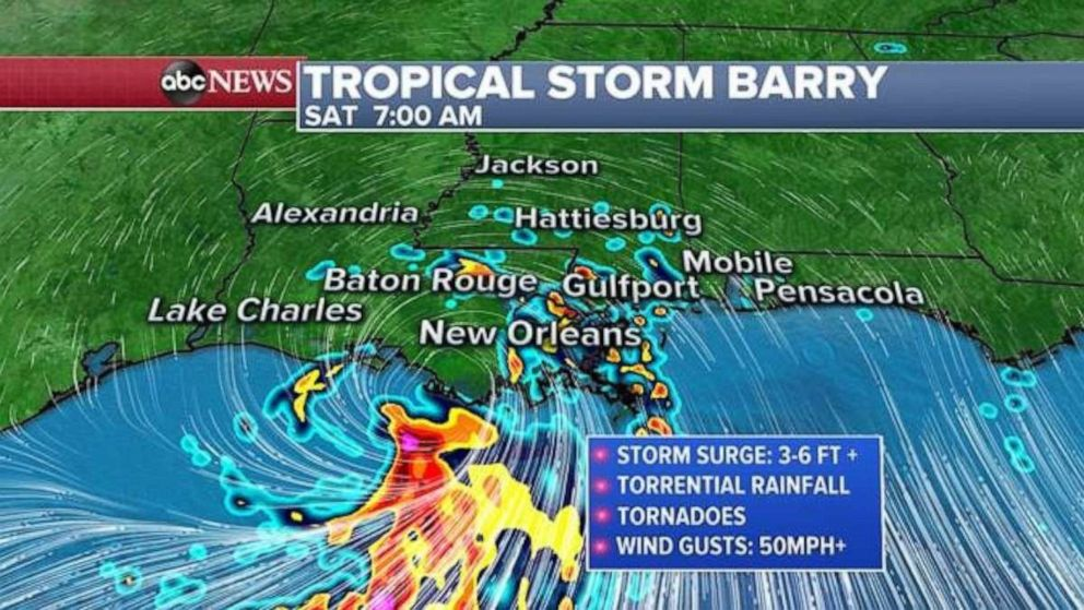 PHOTO: The storm will likely make landfall early Saturday.
