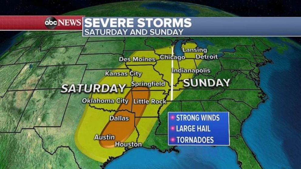 Here we go again, chance for severe weather returns Saturday