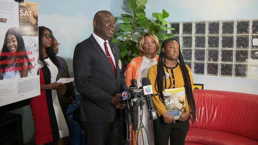 Press conference from Ben Crump, national civil rights attorney representing Kamilah Campbell.