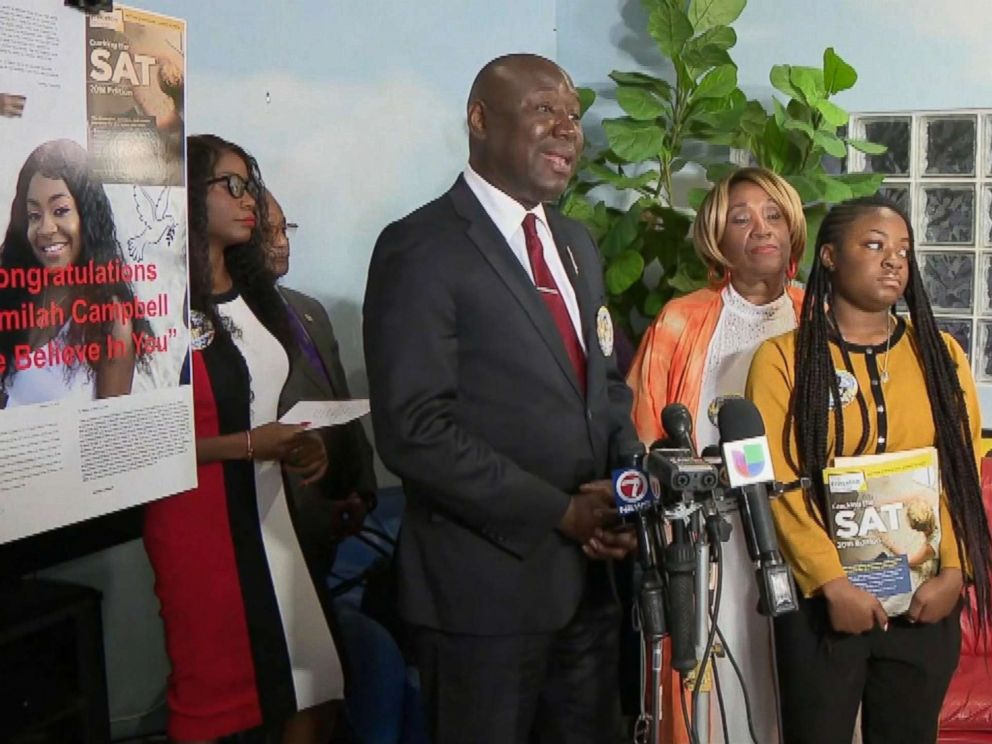 PHOTO: Press conference from Ben Crump, national civil rights attorney representing Kamilah Campbell.