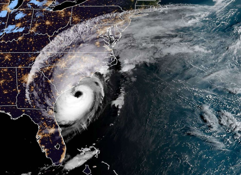 PHOTO: TA satellite image shows Tropical Storm Dorian over the southeastern U.S. on Sept. 5, 2019.