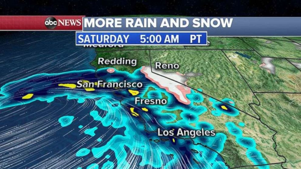 PHOTO: More rain and snow is heading for California this weekend.