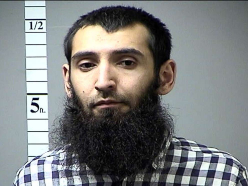 PHOTO: Sayfullo Saipov, the suspect in the New York City truck attack is seen in St. Charles County Department of Corrections, Missouri, U.S., photo released on November 1, 2017.