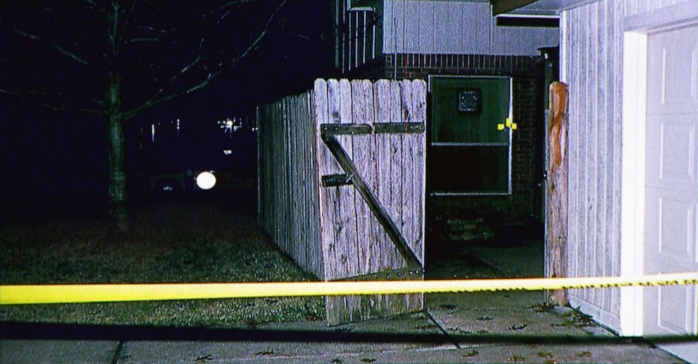 PHOTO: On Jan. 11, 1999, David Temple says he came home to what looked like a home invasion. The gate was open and a window on the door had been broken.