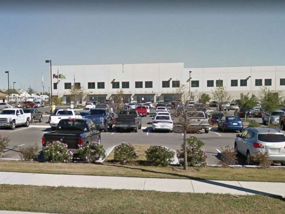 A box exploded at a FedEx shipping facility in Schertz, Texas, on Tuesday, March 20, 2018. No one suffered serious injuries.