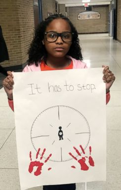 PHOTO: Mari Copeny, a 10-year-old activist known as Little Miss Flint, takes part in National School Walkout in Flint, Mich. April 20, 2018.
