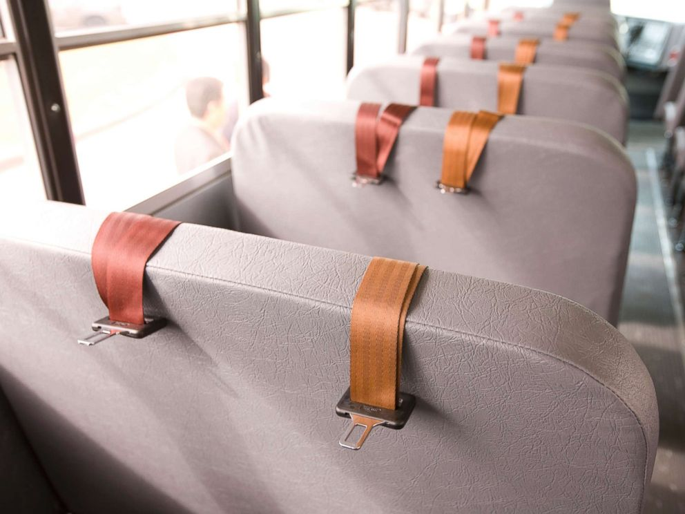 PHOTO: Seat belts are pictured on an Austin Independent School District hybrid school bus in Texas, Nov. 7, 2007.