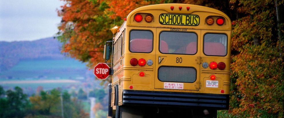 PHOTO: A school bus makes a stop in this stock photo.