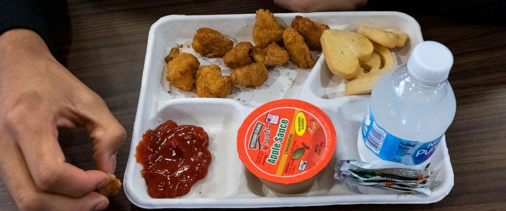 PHOTO: A school lunch tray in Oxon Hill, Md., Oct. 26, 2018.