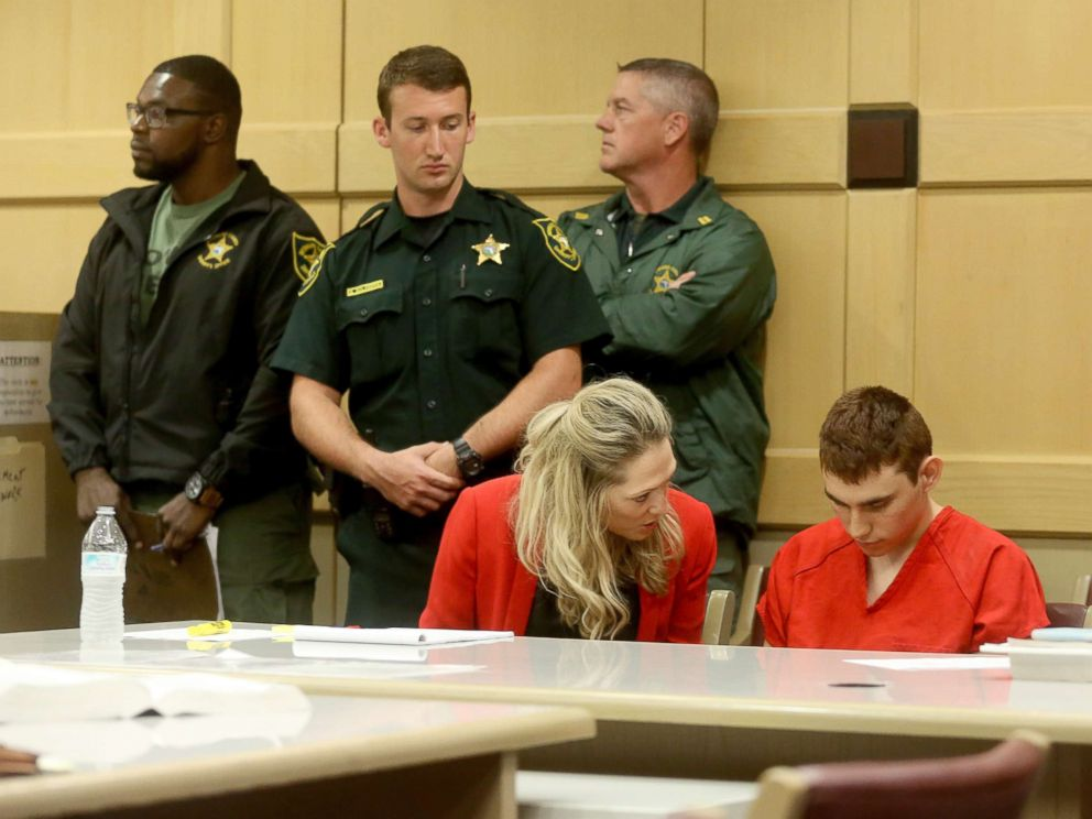 PHOTO: Nikolas Cruz appears in court for a status hearing before Broward Circuit Judge Elizabeth Scherer in Fort Lauderdale, Fla., on Feb. 19, 2018.