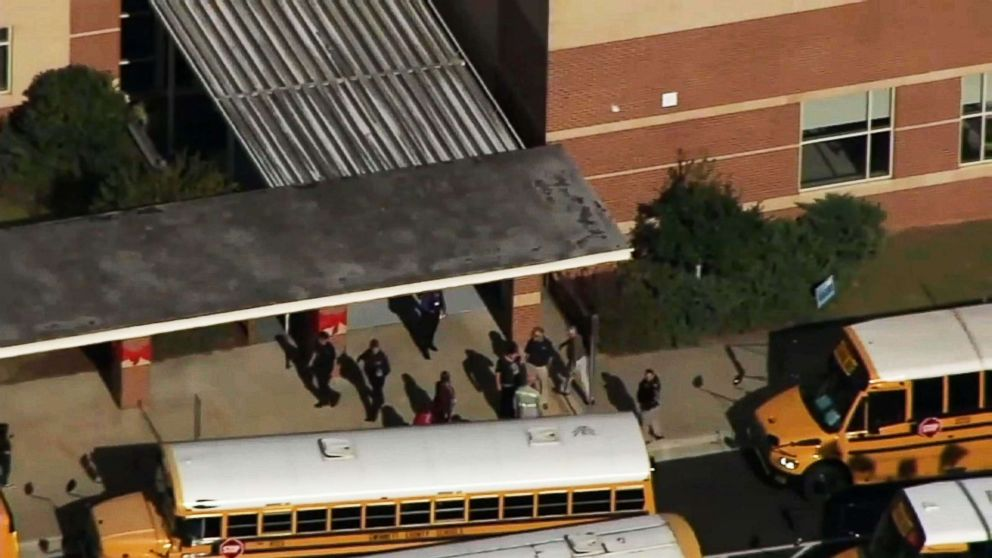 A student stabbed his teacher in an eighth-grade language arts classroom at Trickum Middle School in Georgia, Oct. 22, 2018.