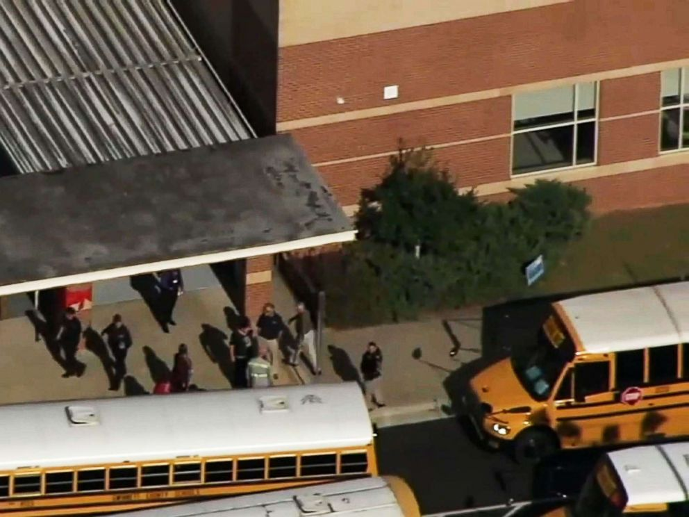 PHOTO: A student stabbed his teacher in an eighth-grade language arts classroom at Trickum Middle School in Georgia, Oct. 22, 2018.