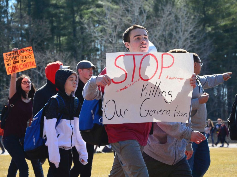 U.S. students stage walkouts in the thousands to protest gun violence