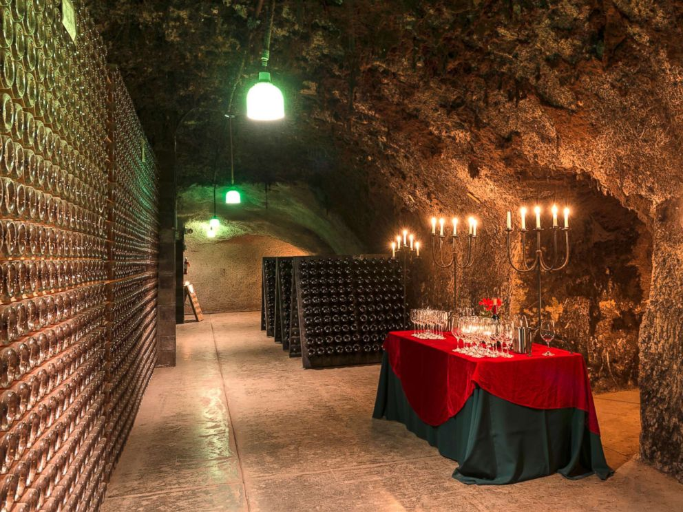 PHOTO: One of the wine-cellar caves at the Schramsberg Vineyard winery in California Napa Valley, Dec. 31, 2012.