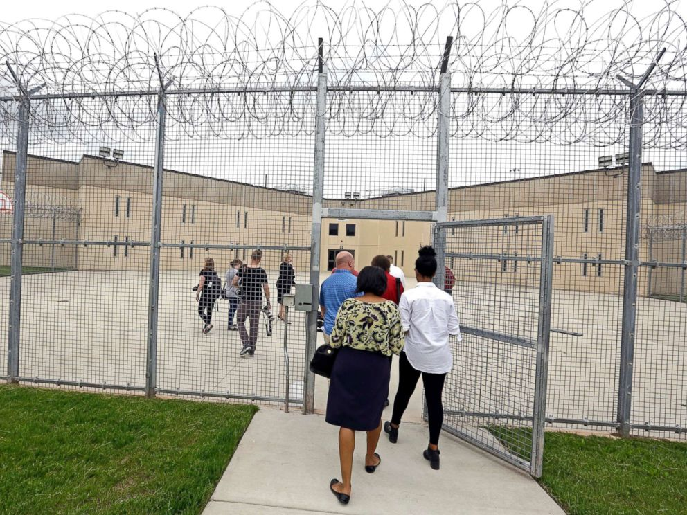 PHOTO: A tour group enters block D in the west section of the State Correctional Institution at Phoenix in Collegeville, Pa., June 1, 2018.