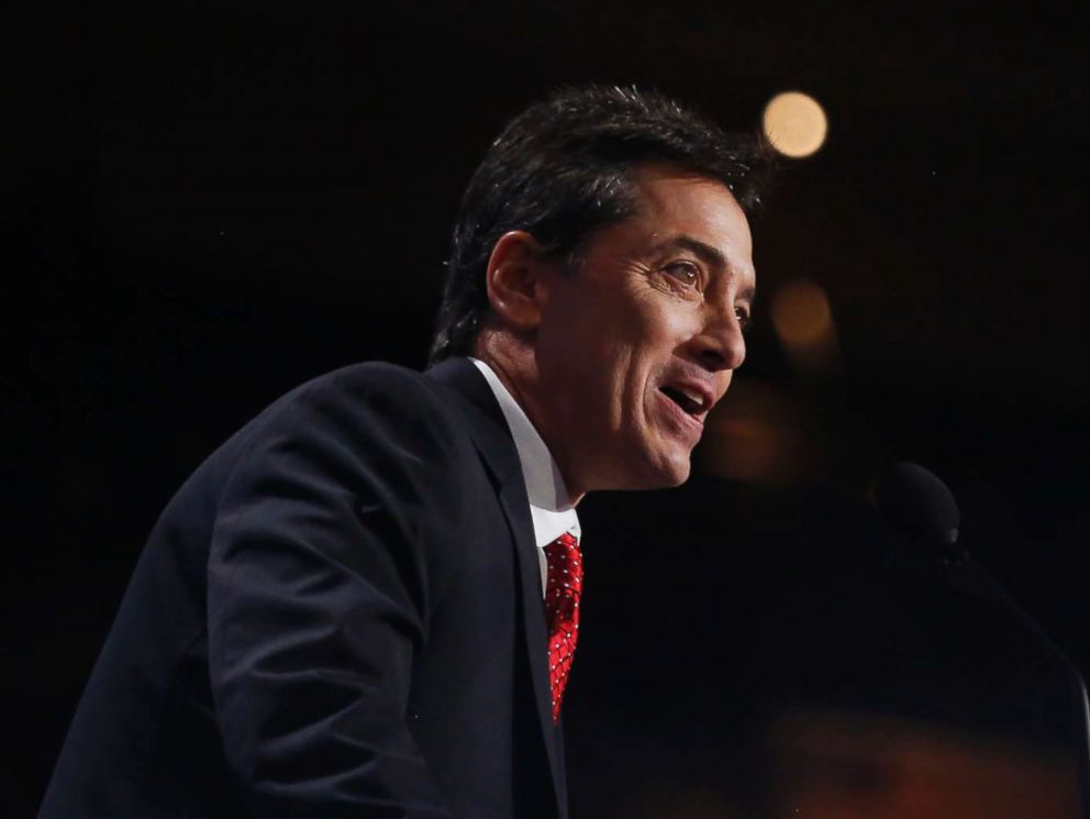 PHOTO: Scott Baio speaks during the Republican National Convention (RNC) in Cleveland, Ohio, July 18, 2016.