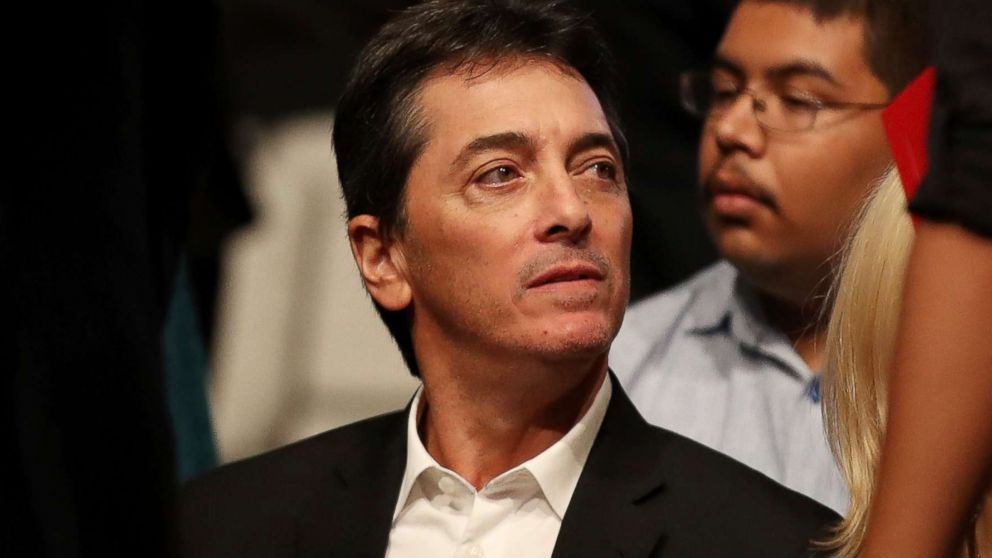 Scott Baio waits for the start of the third U.S. presidential debate at the Thomas & Mack Center, Oct. 19, 2016 in Las Vegas.