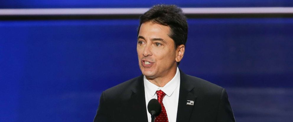 PHOTO: Scott Baio speaks during the first day of the Republican National Convention, July 18, 2016 at the Quicken Loans Arena in Cleveland, Ohio.