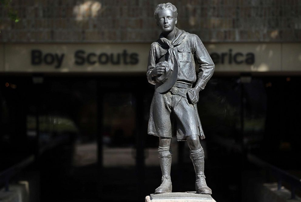 PHOTO: A statue outside the Boy Scouts of America Headquarters, Feb. 4, 2013, in Irving, Texas.