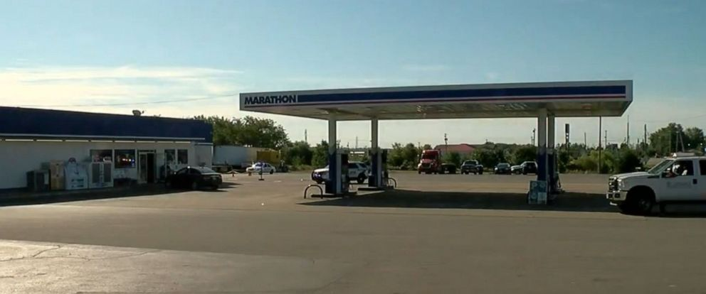 PHOTO: A suspect shot and killed a delivery driver at this gas station in Seaman, Ohio, Sept. 27, 2019, according to police.