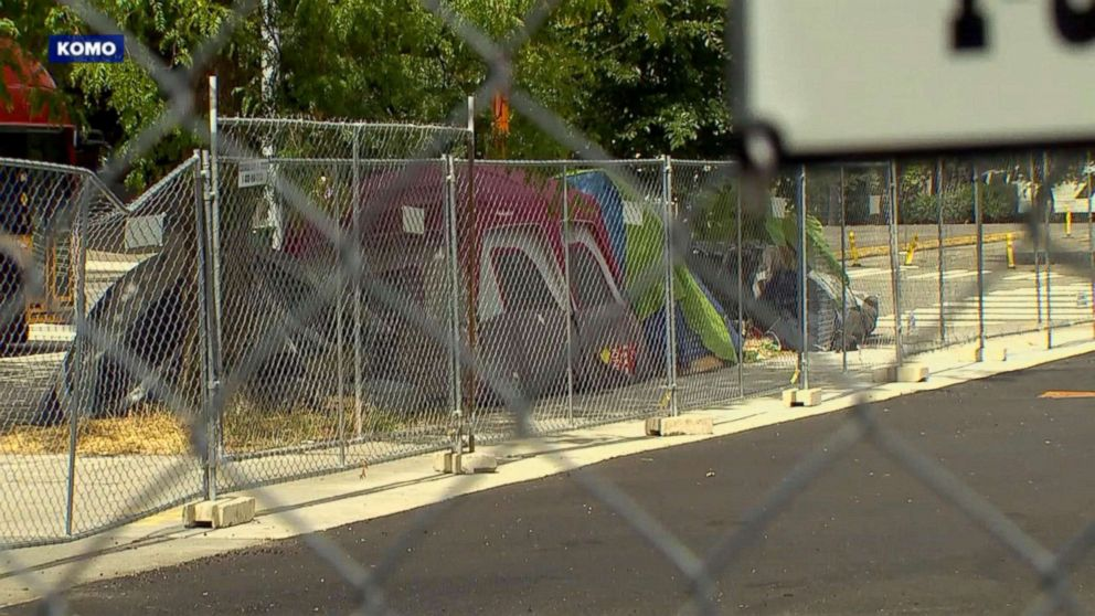 Seattle city officials have begun clearing homeless settlements throughout the city.