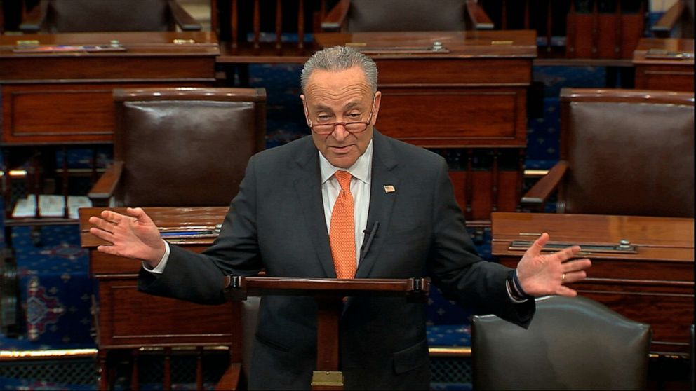 Sen. Chuck Schumer celebrates gains in $2T stimulus deal, says ...
