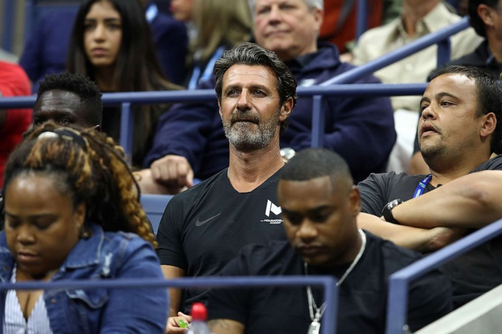 PHOTO: Coach of Serena, Patrick Mouratoglou looks on during the Womens Singles finals match between Serena Williams of the United States and Naomi Osaka of Japan on Day Thirteen of the 2018 US Open.