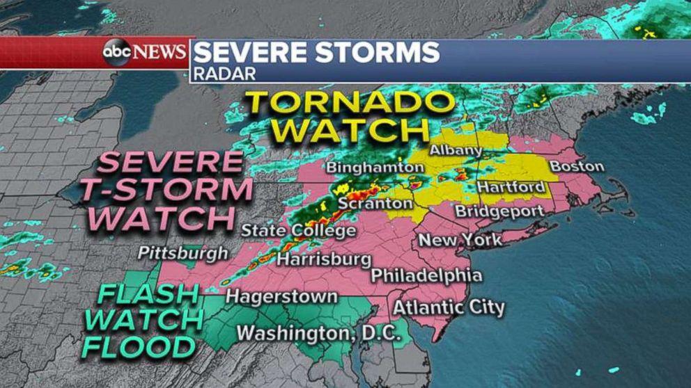 PHOTO: Severe storm radar.