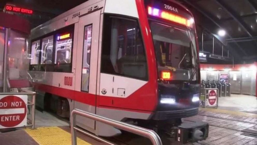 Video shows woman being dragged by Muni train