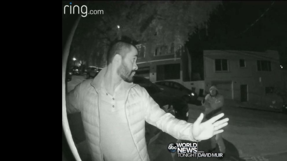 PHOTO: An armed robber was caught on a home security camera in San Francisco when he ambushed three residents on May 13, 2018.