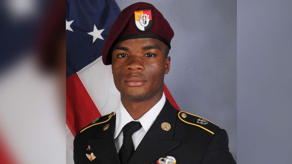 Sgt. La David Johnson, 25, died from wounds sustained during enemy contact. He was assigned to 3rd Special Forces Group (Airborne) on Fort Bragg.